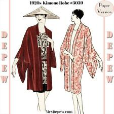 Vintage Sewing Pattern Instructions 1920s Flapper Robe Kimono Coat Booklet #3039