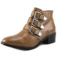 Buckle Leather Medium Width (B, M) Ankle Boots for Women