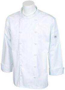 Mercer Renaissance Cutlery Men's Chef Jacket (Scoop Neck) | White, Small