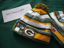 Green Bay Packers New Era knit pom hat beanie 2014-15 NFL OnField 100% AUTHENTIC