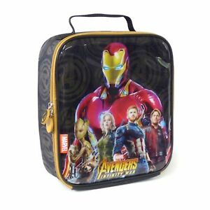 New Official Marvel Avengers Infinity War Iron Man School Lunch Insulated Bag