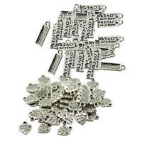100pcs MADE WITH LOVE Tibetan Silver Metal DIY Beads Making Findings Craft