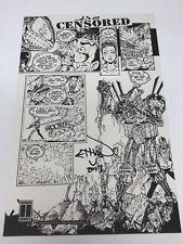 CyberFrog #1 Censored Comic Art Print - Signed Ethan Van Sciver - Harris