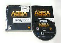 ABBA PS3 Sony Playstation 3 Singstar - Karaoke Audio Video Game w/Manual