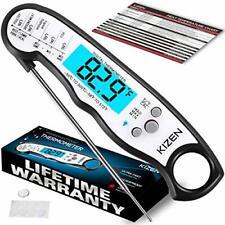 Kizen Digital Waterproof Instant Read Meat Thermometer - Jet Black