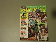 DECEMBER 1989 SUPER MOTOCROSS MAGAZINE,DES NATIONS,STANTON,PONCA CITY,LORETTAS