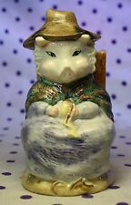 ROYAL ALBERT England AND THIS PIG HAD NONE Figurine Beatrix Potter Chair Shawl
