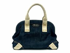 $1800 AUTHENTIC PRADA Frame DENIM Bag Purse NEW + RECEIPT + Auth CARD + DustBag
