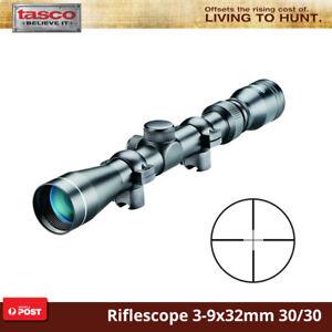 Tasco Mag .22 Rifle Scope 3-9X32Mm 30/30 Reticle 3/8 Rings Waterproof Shooting