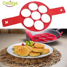 Silicone Egg Poachers Pancake Pan Flip Egg Ring Breakfast Maker Omelette  Tools