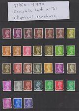 Y1760-Y1790. Complete set x 31 Elliptical Machins. Superb unmounted mint.
