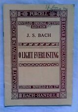 J S Bach, o luce eterna (NOVELLO'S ORIGINAL IN OTTAVO Edition) VOCAL SCORE