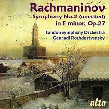 CD RACHMANINOV SYMPHONY 2 OP. 27 UNEDITED LONDON SYMPHONY ROZHDESTVENSKY