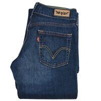 Levi's Womens Flare Hem Boot Leg Jeans Mid Rise Long Pants D.Blue Denim 31x34