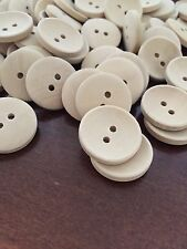 10 X 20mm Natural Raw Wooden Buttons - Australian Supplier