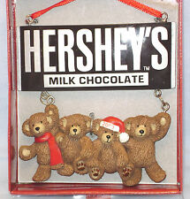 Hershey's Milk Chocolate Christmas Ornament Teddy Bears 2003 Free Shipping