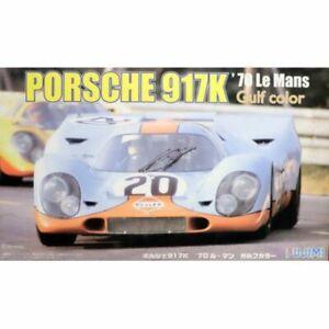 1:24 Scale Fujimi Porsche 917K '70 Le Mans Gulf Colour Model Kit #771p