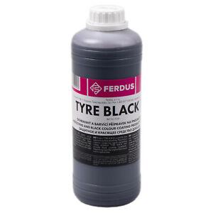 Reifenpflege Gummipflege schwarz 1Liter Tyre Black Reifenschwärzer Reifenschwarz