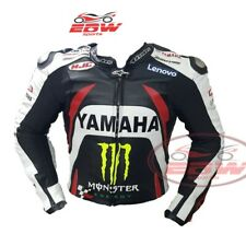 Giacca moto in pelle Yamaha Motogp, giacca in pelle moto con armatura CE