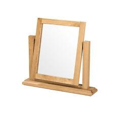 French Rustic Solid Oak Dressing Table Vanity Mirror Bedroom Bathroom Furniture