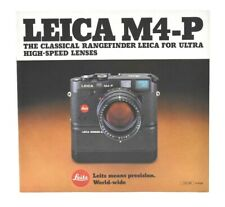 LEICA M4-P 23 Page Product Catalog, c-1981