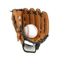 Outdoor Sports Brown Baseball Softball Midwest Ball Catch Mitts Hand Glove