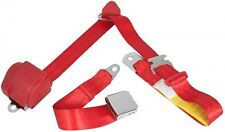 Mustang Seat Belt 3 Point Retractable 64 1965 66 67 68 69 70 71 72 73 Bright Red