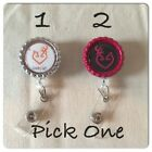 Country Girl Browning Love Inspired Retractable Reel ID Badge Holder Pick One