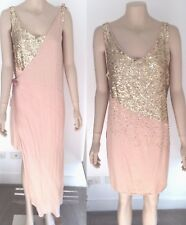 SASS & BIDE Stunning Gold 'Scatter Sequin' Party Dress New Condition AU 12