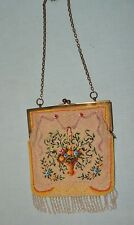 1920-30's Micro Beaded Purse w Beautiful Flower Basket