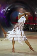 L2865 Ballroom party latin rumba salsa samba chacha dance dress US 6 Fringes