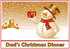 1 Personalised Christmas placemat family dinner placemat snowman 2
