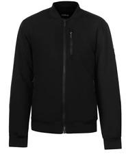 Firetrap Bomber Jacket Mens Black Full Zip Size Extra Small *REF95