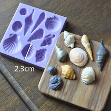 3D Beach Sea Shells Summer Silicone Cake Mould Decoration Fondant Icing