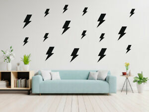 100 Lightning Bolt Removable Vinyl Wall Decals Wall Stickers - Nursery Decor