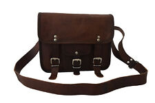 Vintage Leather Messenger Bag iPad/Tab Passport Travel Handbag Shoulder Bag