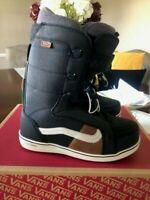 NEW Vans Hi Standard Pro Men's Size 8 Snowboard Boots Black w/ Off White Laces