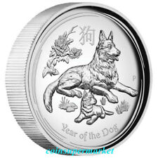 2018 Australia Lunar Year Of Dog High Relief Proof 1oz Silver Coin The Perth OGP