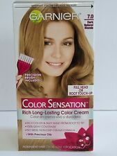 Garnier Sensation Rich Long-Lasting Hair Dye Color Cream 7.0 Dark Natural Blonde
