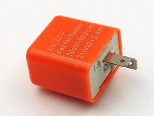 12v 2-Pin Speed Adjustable LED Flasher Relay Fix Harley Turn Signal Hyper Flash