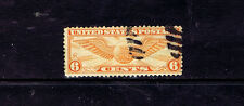 #C19    6 CENT WINGED GLOBE AIR MAIL FANCY CANCEL      USED   a