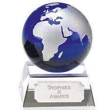Aqua Globe MINI trofeo di cristallo ottico GRATIS Incisione Regalo aziendale KK152 GWA