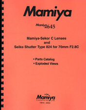 Mamiya M645 Lenses Repair Parts Catalog & Exploded Views