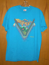 T-Shirt Arizona Turquoise Native American Textured Design sz M EUC #E74