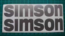 Simson  Aufkleber Set silber