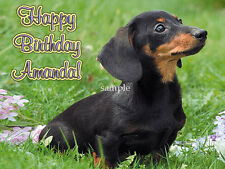DACHSHUND Dog Edible ICING Image CAKE Decoration Topper FREE SHIPPING