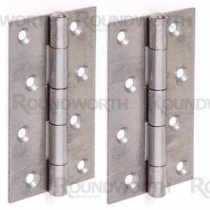 "4 x NARROW HEAVY DUTY BUTT HINGES 4""/100mm Long Strong Steel Door Frame Hang Set"