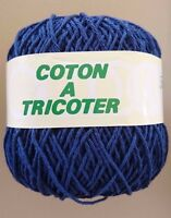 10 pelotes de coton  mat  couleur : marine - FABRIQUE EN FRANCE