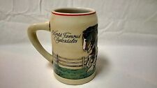 1988 World Famous Budweiser Clydesdale Mare & Foal Ceramarte Beer Stein