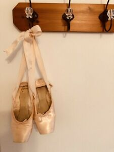 Used/Worn Pink Ballet Pointe Shoes with Ribbons for Dance Crafts and Decoration